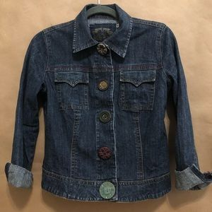 CAbi   Denim Jacket With MisMatched Buttons